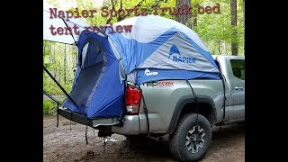 Napier Sportz truck bed tent review on a 2017 Tacoma long bed