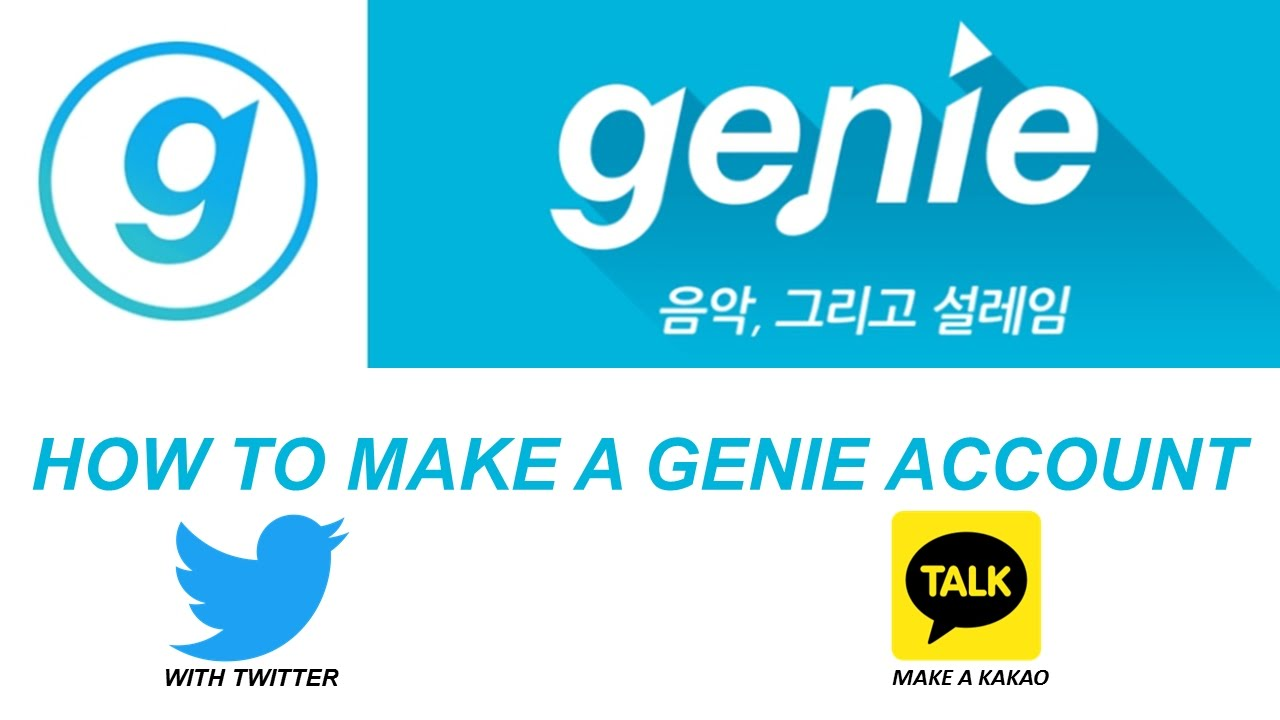 HOW TO MAKE A GENIE ACCOUNT  MAKE A KAKAO ACCOUNT - YouTube for Genie Music Logo  285eri