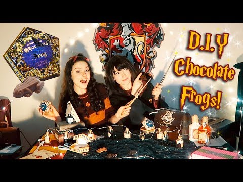 Hogwarts Students Make DIY Chocolate Frogs! Abipop & Kelsey Ellison
