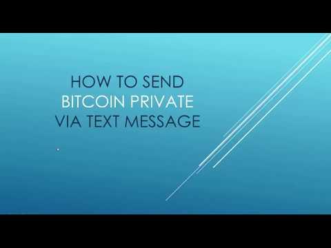 How To Send Bitcoin Private (BTCP) Via SMS Message