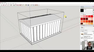 Sketchup making a roman temple using rulers and copy and paste