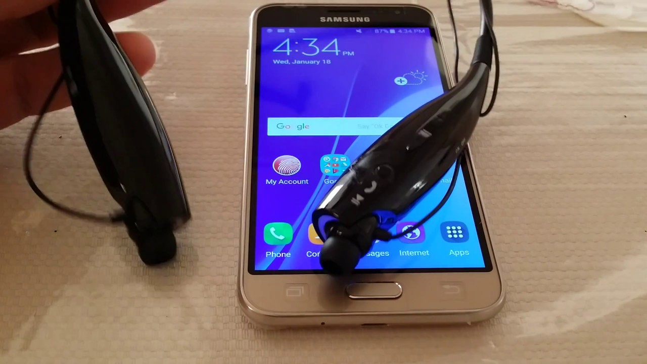 How to pair Bluetooth Wireless Headset to Samsung Galaxy J3