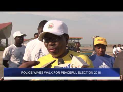 Police Wives March For Peaceful Election