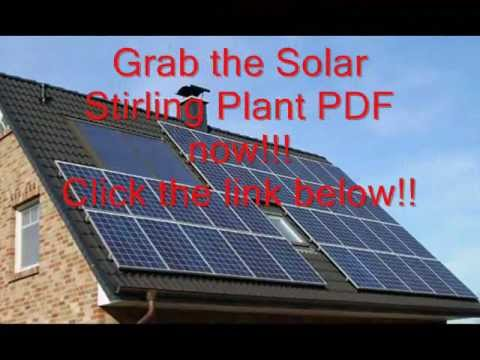 Solar Stirling Plant PDF Download [Better Hurry]