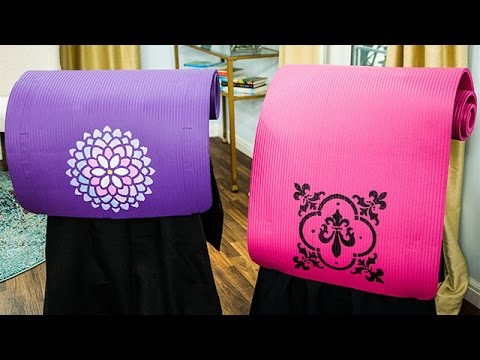how-to---paige-hemmis'-diy-personalized-yoga-mats---hallmark-channel