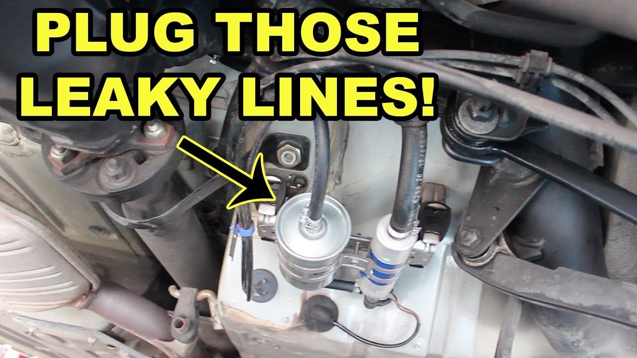 w140 mercedes benz leaking fuel line replacement youtube mercedes s320 parts 95 mercedes s320 fuel filter [ 1280 x 720 Pixel ]