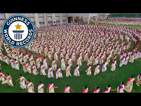 Thousands perform hypnotic Indian Dance – Guinness World Records