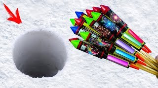 EXPERIMENT: XXL ROCKETS UNDER SNOW