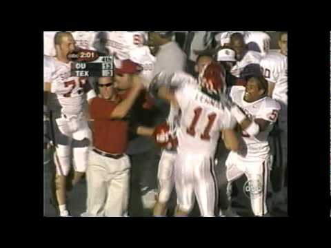 Roy Williams Superman dive @ Chris Simms causing game clinching interception *(from Oct. 6, 2001)