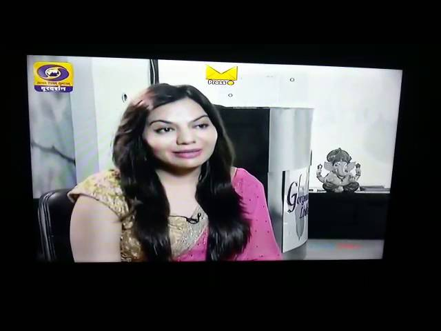 Dr. charu sharma(PLASTIC & COSMETIC SURGEON) is explaining about cosmetic surgery on Doordarshan