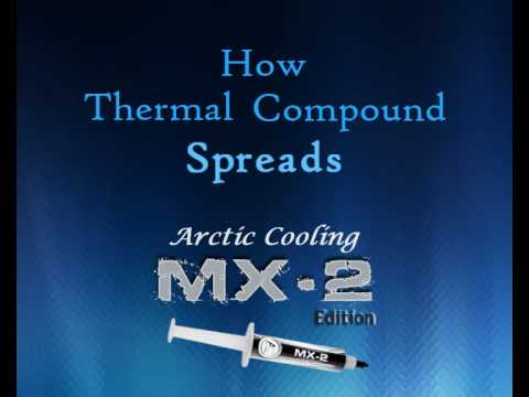 How Thermal Compound Spreads (MX-2 Edition)