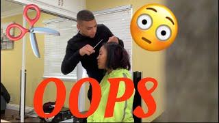 CUTTING MY GIRLFRIENDS HAIR PRANK!! ** SHE STARTS CRYING **