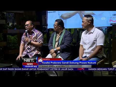 Pasangan Prabowo Sandi Mendukung Penuh Langkah Polisi Dalam Kasus Ratna Sarumpaet - NET 10