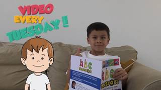 Learning video for toddlers learn ABC, kids book reviews & toy reviews