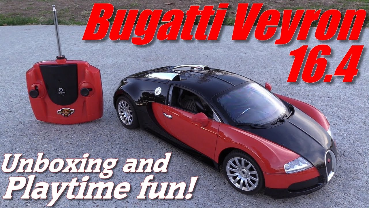RC Cars And Toys: Bugatti Veyron 16.4 Remote Control Car Unboxing And  Playtime   YouTube