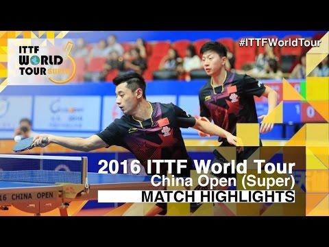 2016 China Open Highlights: Ma Long/Zhang Jike vs Koki Niwa/Yuya Oshima (1/2)