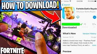 DOWNLOADING FORTNITE MOBILE FOR ANDROID DEVICE (WITH APK DOWNLOAD LINK) TESTING GAME APK !!!