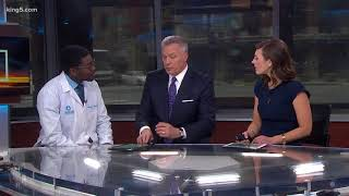 Dr. Olabode Akinsanya from Overlake Medical Center was here to talk...