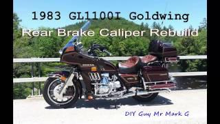 1983 Honda Goldwing GL1100I Rear Brake Caliper Rebuild