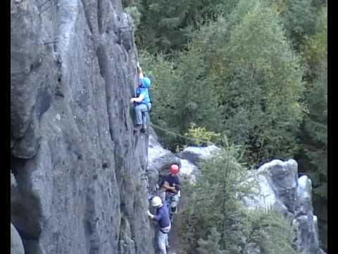 Klettersteig Zittauer Gebirge : Klettersteig alpiner grat youtube