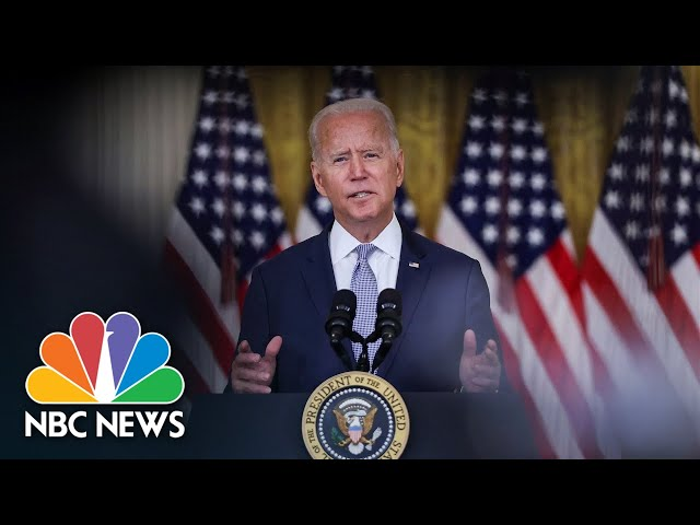 Biden Speaks On Afghanistan Crisis As Taliban Regains Control | NBC News