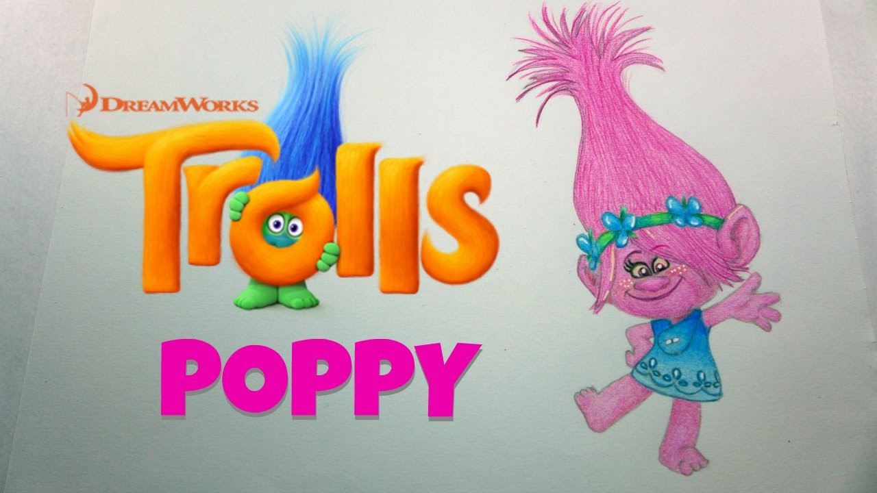 how to draw trolls poppy