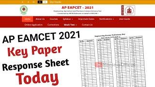 AP EAMCET 2021 Key Paper & Response Sheet Today