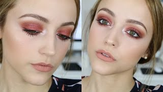 Red Glittery Eyes | Makeup Tutorial