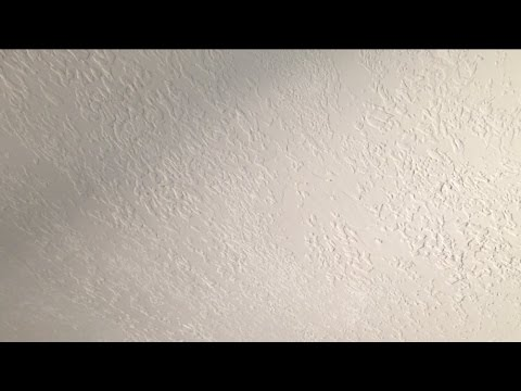 KNOCKDOWN CEILING TEXTURE (HOW TO APPLY WITH PLASTIC BAG)