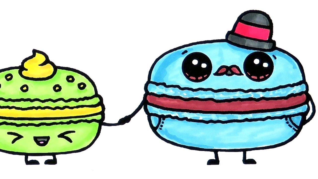 Yummy Macaron Coloring Pages For Kids Youtube