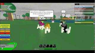 ROBLOX WELCOME TO THEN TOWN OF ROBLOXIA LOTS OF PUPYS!!