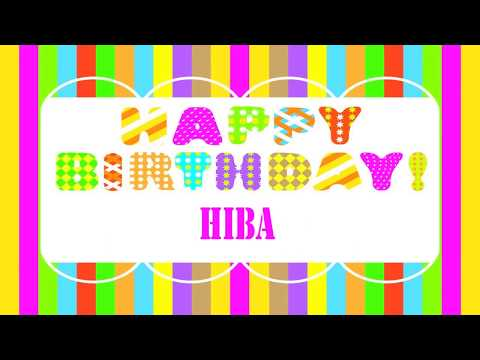 Hiba Wishes - Happy Birthday