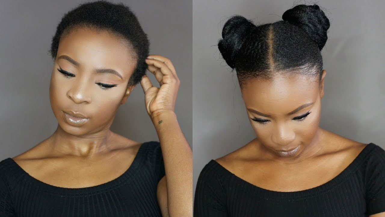 How To Space Buns On Short Natural Hair Black Hair Information