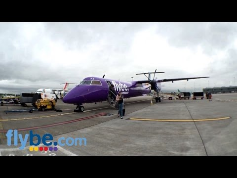 [HD] Flybe Dash 8 Q-400 G-PRPA Takeoff Exeter