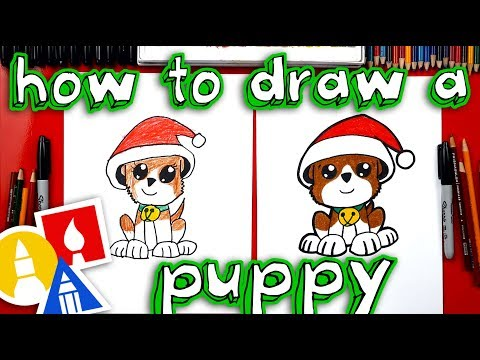 How To Draw Christmas Puppy