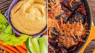 How To Make Chipotle Cashew Dip + Italian Purple Cabbage Rolls