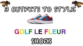 3 OUTFITS TO STYLE GOLF LE FLEURS SHOES * MOLTEN LAVA/ DIVA BLUE EDITION *