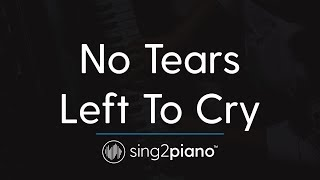 No Tears Left To Cry (Piano Karaoke) Ariana Grande