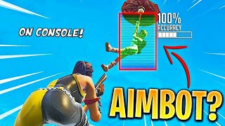 Fortnite: Aimbot on CONSOLE showcase with PROOF