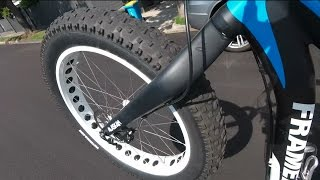 Fat bike wheelie