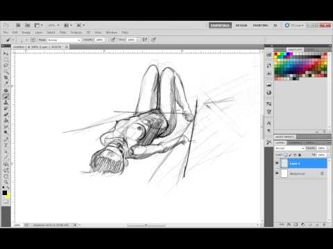 Nudity! How To Draw A Foreshortened Lying Down Woman