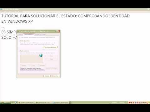 Comprobando Identidad de red inalambrica en Windows XP