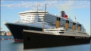 A modern ocean liner, the queen mary 2 (2004) compared with classic one: rms titanic (2012). see ii blog: https://titanicll.wordpress.com