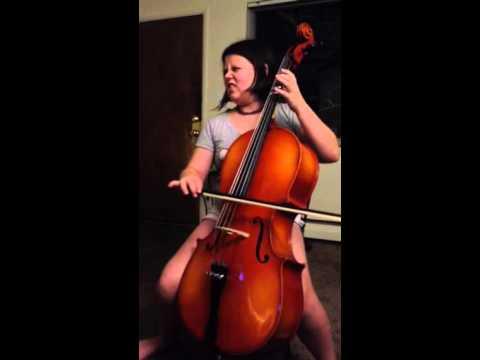 Buckeye salute on cello (beginner)