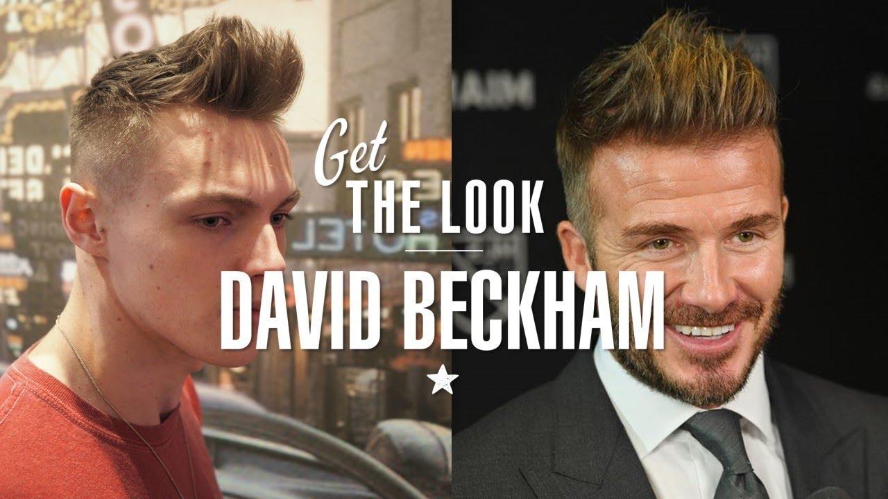 Get The Look David Beckham High Volume Quiff Haircut 2018 Youtube
