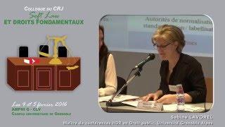 """Colloque """"Soft Law et droits fondamentaux"""" - Intervention Mme Sabine LAVOREL"""