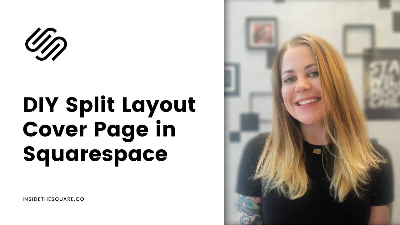 How To Create A Split Layout Cover Page In Squarespace 7.1 // Squarespace 7.1 Tutorial
