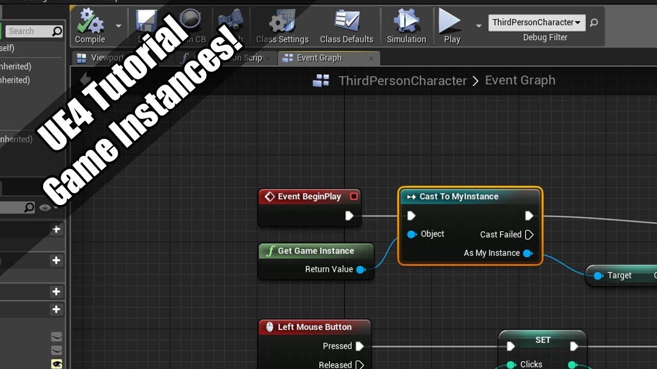 UE4 - Tutorial - Game Instances