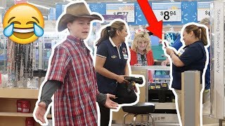 YODELING IN WALMART PRANK! (KICKED OUT)