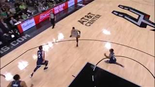 Danny Green Assists Kyle Anderson ( Spurs vs Timberwolves) 03/17/2018